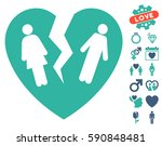 broken family heart pictograph... | Shutterstock .eps vector #590848481
