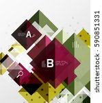 repetition of overlapping color ... | Shutterstock .eps vector #590851331