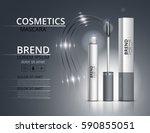 cosmetic mascara. packaging... | Shutterstock .eps vector #590855051