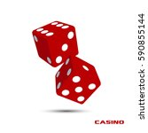 pair of red casino dice... | Shutterstock .eps vector #590855144