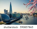 aerial view on thames and... | Shutterstock . vector #590857865