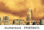 abstract modern city skyline... | Shutterstock . vector #590858651