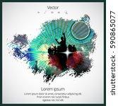 silhouette of dancing people   Shutterstock .eps vector #590865077