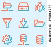 server icons set  signs for... | Shutterstock .eps vector #590866379