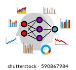 artificial neural network  deep ... | Shutterstock .eps vector #590867984