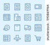 kitchen appliances web icons | Shutterstock .eps vector #590869964