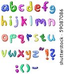 hand drawn colorful vector abc... | Shutterstock .eps vector #59087086