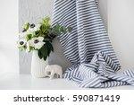 still life with an elegant... | Shutterstock . vector #590871419