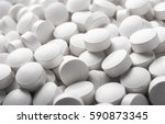 white pills close up | Shutterstock . vector #590873345
