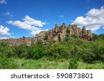 summer landscape with rocks and ...   Shutterstock . vector #590873801