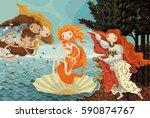 the birth of venus | Shutterstock .eps vector #590874767