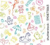 seamless pattern for cute... | Shutterstock .eps vector #590875865