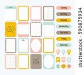 template for notebooks. cute... | Shutterstock .eps vector #590875934