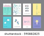 set of creative greeting cards  ...   Shutterstock .eps vector #590882825