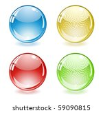 glossy colored abstract spheres | Shutterstock .eps vector #59090815