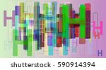 h alphabet vector texture | Shutterstock .eps vector #590914394