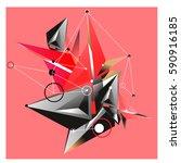 vector of triangle fractal... | Shutterstock .eps vector #590916185