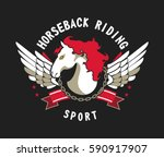 vector sport emblem for team... | Shutterstock .eps vector #590917907