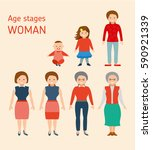 age stages of a europeans woman.... | Shutterstock .eps vector #590921339