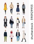 street people fashion man and... | Shutterstock .eps vector #590929955