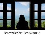 Silhouette Woman Looking...