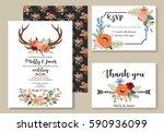 wedding graphic set in the...   Shutterstock .eps vector #590936099