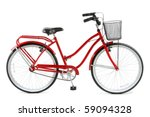 Red Bicycle Over White...