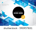 vector of abstract geometric... | Shutterstock .eps vector #590957831