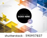 vector of abstract geometric... | Shutterstock .eps vector #590957837