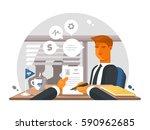 recruitment process in office | Shutterstock .eps vector #590962685