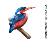 common kingfisher  alcedo... | Shutterstock . vector #590965865