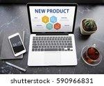 new product creative idea... | Shutterstock . vector #590966831
