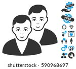 users icon with bonus passion... | Shutterstock .eps vector #590968697