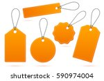 set of orange price tags with... | Shutterstock .eps vector #590974004