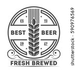 beer pub vintage isolated label ... | Shutterstock .eps vector #590976569