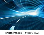 blue abstract blurred speed... | Shutterstock . vector #59098462