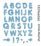 graphic font. handmade sans...   Shutterstock .eps vector #590996261