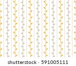 seamless nature sketch vector... | Shutterstock .eps vector #591005111