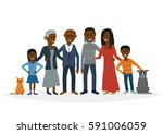 big family. vector flat... | Shutterstock .eps vector #591006059