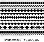geometric ethnic pattern... | Shutterstock .eps vector #591009107