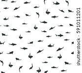 random pattern with black... | Shutterstock .eps vector #591011201