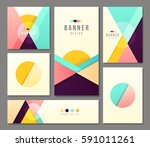 set of banner templates. bright ... | Shutterstock .eps vector #591011261