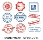 set of various best quality... | Shutterstock .eps vector #591012941