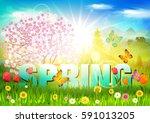 spring. | Shutterstock .eps vector #591013205