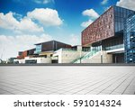 large modern office building | Shutterstock . vector #591014324