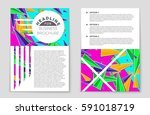 abstract vector layout... | Shutterstock .eps vector #591018719