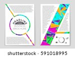 abstract vector layout... | Shutterstock .eps vector #591018995