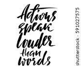 hand drawn vector lettering.... | Shutterstock .eps vector #591027575
