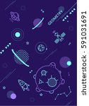 geometry background  | Shutterstock .eps vector #591031691
