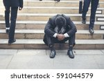 Desperate Businessman In An...